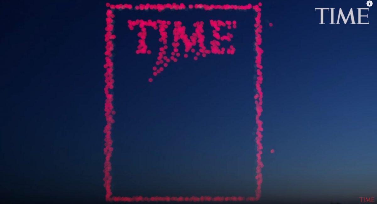 TIME'ın 958 drone'la oluşturduğu etkileyici kapağı